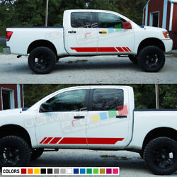 Lower Sticker Vinyl Side Stripes For Nissan Titan Arm Bush Front To Rear Tune Up