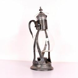 Mughal Wine Bottle Holder With Glass Collectible