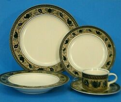 Place Setting Mikasa Intaglio Arabella Dinner And Salad Plate Rim Bowl Cup Saucer