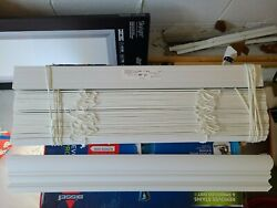 2 Faux Wood Blinds White W/ Hardware Various Sizes From 21-82