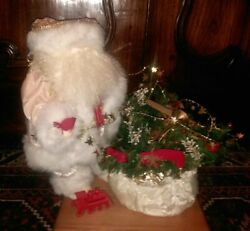 Timeless Collectibles Pink Santa Number 7057 18 Inches Tall