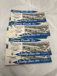 Emery Candles Wethersfield Ct Advertising Vtg Paper Ink Blotter Lot Of 8