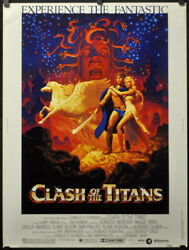 Clash Of The Titans 1981 Orig 30x40 Movie Poster Laurence Olivier Harry Hamlin