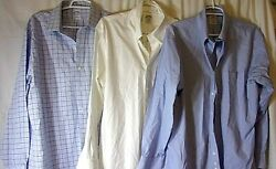 Lot Of 3 Brooks Brothers Button Up Dress Shirts Men's 17-33 Cotton Very Nice