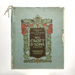 Canadian Wwi Wm Croft And Sons 1916 Trade Catalogue Fishing Bait Tin Toy Doll Xmas
