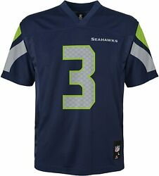 Nfl Youth Boys 8-20 Russell Wilson Seattle Seahawks Boys -player Name Jersey