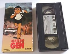 Barefoot Gen Vhs - Video Bombing Of Hiroshima Japan - Anime - Wwii Tested