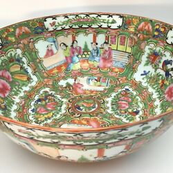 Stunning - Beautiful - Two Large Chinese Rose Medallion-famille Bowls - 1930s