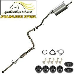 Stainless Steel Exhaust System Kit With Bolts And Hangers Fit 94-97 Accord 2.2l
