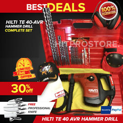 Hilti Te 40 Avr Hammer Drill, Preowned, Your Choice, Free Extras, Fast Ship