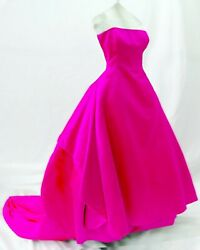 2 piece Ball Gown Black Tie Dress Formal ESCADA COUTURE Fuchsia Hot Pink
