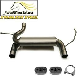 Stainless Steel Rear Exhaust Muffler With Hangers Fits 2007-2017 Jeep Wrangler