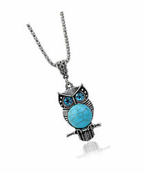 Nick Angeloand039s Owl Pendant Necklace Amulet Jewelry Vintage Look Created Turquoise