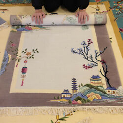 9 Patterns Yilong Handknotted Chinese Art Deco Wool Carpet Family Room Rug