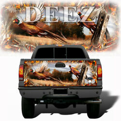 Tailgate Truck Wrap Vinyl Decal Pheasant With Fire Buck Skull Camo 008tgsm