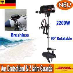 Hangkai 2200w Electric Outboard Motor Brushless Boat Engine 90anddeg Rotatable