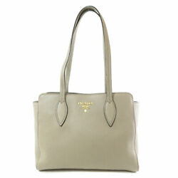 PRADA   Tote Bag Logo design Leather $830.00