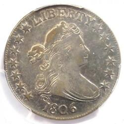 1806 Draped Bust Half Dollar 50c Coin - Certified Pcgs Xf45 - 2100 Value
