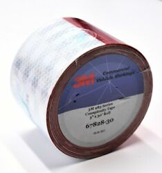 3m 67828-30 3 X 30and039 983 Series 11 Red 7 White Conspicuity Reflective Tape