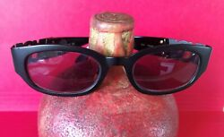 New Discontinued Ladies Yves Saint Laurent Sunglasses Black And Gold Made In Italy