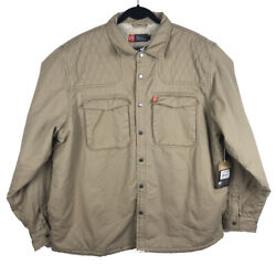 American Outdoorsman Mens Sherpa Lined Twill Shooting Shirt Jacket Size 2xl