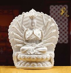 18and039and039 Collection Art White Porcelain Thousand-hand Guanyin Cundhi Bodhisattva