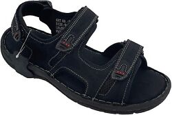 Menand039s Genuine Leather Sandals Shoes Ultra Comfort Soft