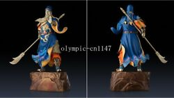 22'' Superfine Brass Colored Drawing Carvings Three Kingdoms Warrior Guan Gong