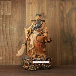 23and039and039 China Porcelain Ceramic Art Pottery Home Fengshui Nine Dragon Guan Gong