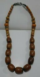 Antique African Amber Very Nice Smell Handmade Necklace 113g Trade Beads Special
