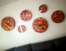Beautiful Wall Decoration Hand Painted In Glass Lunas