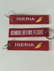 Keyring Iberia Airlines - Remove Before Flight Tag Keychain Pack Of 3