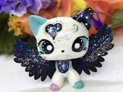 Short Hair Cat Galaxy Kitty Hand Painted Mini Pet Shop With Free Accessories
