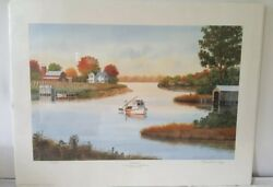 Franklin Saye Reflections Print Numbered 312/500 Northern Neck Virginia