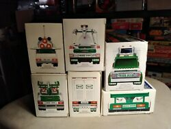 Lot Of 6 Excellent Hess Toy Trucks Ranging From 1999-2013 Lqqk No Duplicates