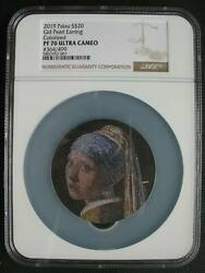 Palau 20dollars 2019 Silver Coin Micromosaic Passion Girl Pearl Earring Ngc Pf70
