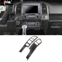 Real Carbon Center Console Vent Overlay Cover For 2017-2020 Ford Raptor 2018 19