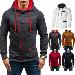 HOT Men Warm Hoodie Hooded Sweatshirt Coat Jacket Outwear Jumper Winter Sweater