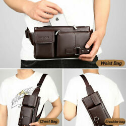 Mens Leather Waist Fanny Pouch Pack Travel Belt Holiday Casual Bag Xmas Gift