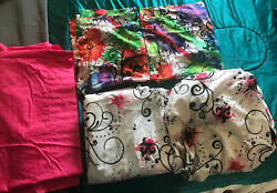 Colorful College Bedding Set Shams 2 amp; Full Size Sheets 3 By Campus Living