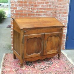 French Antique Walnut Louis Xv Style Drop Front Desk