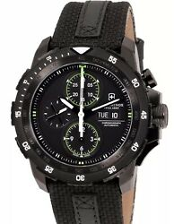 Victorinox Swiss Army Automatic Chronograph Black Dial Men's Watch 241527 New