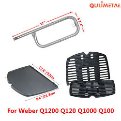 Grill Replacement Burner, Cooking Griddle Grates For Weber Q1200 Q120 Q1000 Q100