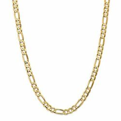 14k Yellow Gold 6.75mm Concave Open Figaro Link Chain Necklace Msrp 7355
