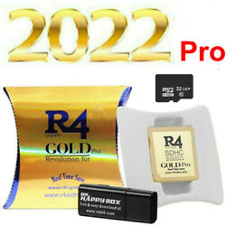 R4 Gold Pro Sdhc For Ds/3ds/2ds/ Revolution Cartridge 32g Card+500 Game New Fr
