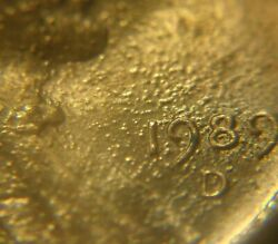 1988-d And 1989-d Lincoln Penny Bubble Errors. Mint Look At My Other Errors