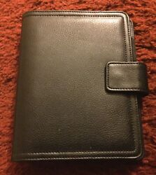 Franklin Covey Small Black Leather 365 6-ring Day Planner
