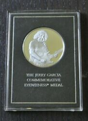 Jerry Garcia Eyewitness Commemorative Medal Sterling Silver Coin Franklin Mint