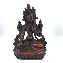 WHITE TARA Tibetan Buddhist Statue Handmade from Nepal 6 Inch LIMITED EDITION $32.99