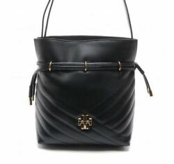 Tory Burch Kira Chevron Mini Bucket Bag Black 64439 Tracking Number $259.50